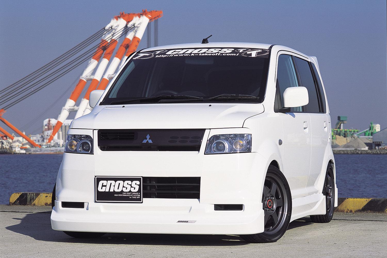 CROSS eKスポーツ (H81W/H86W M/C前) フロントリップスポイラー&サイドステップ&リアアンダースポイラーセット [EKS0040]