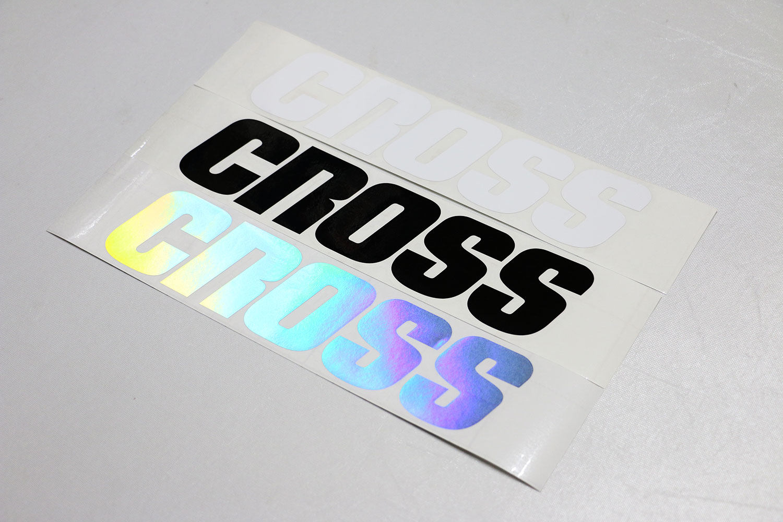 CROSS 切り文字ステッカー 300mm [STC0040]